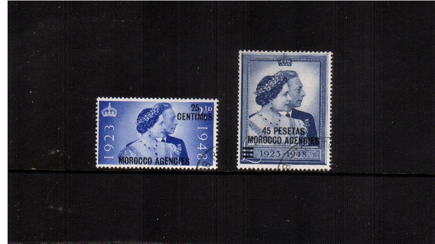 the 1948 Royal Silver Wedding set of two superb fine used.<br/><b>SEARCH CODE: 1948RSW</b><br/><b>QFX</b>
