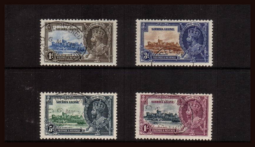 Silver Jubilee set of four superb superb fine used.<br/><b>SEARCH CODE: 1935JUBILEE</b><br/><b>QGX</b>