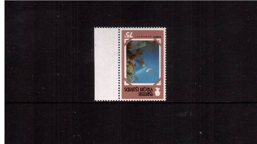 75c Tourism marginal single showing WATERMARK INVERTED superb unmounted mint.