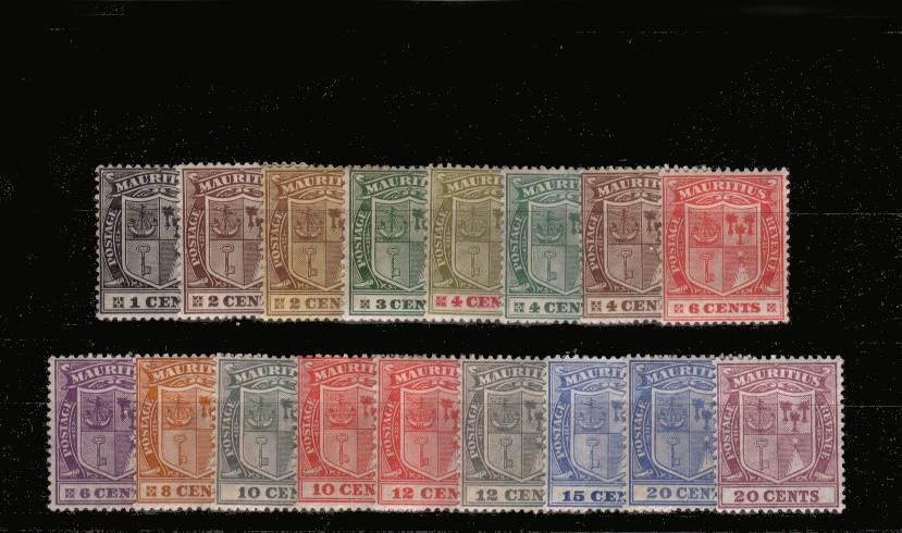 The Multiple Script set of seventeen superb very, very lightly mounted mint<br/>with many being unmounted. An exceptional set!