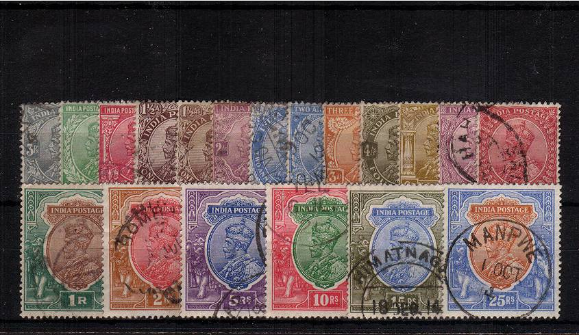 The George 5th definitive set of nineteen superb fine used with selected cancels.<br/>SG Cat �0