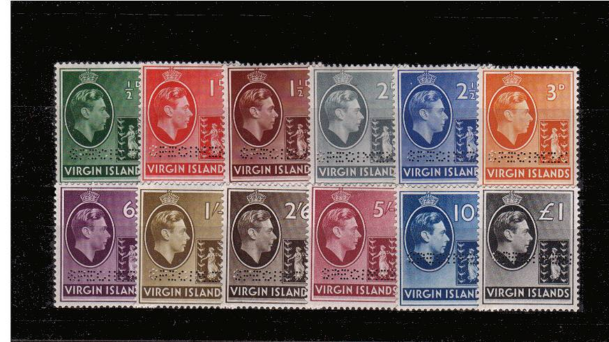 The 1938 definitive set of twelve perfined ''SPECIMEN''.<br/>