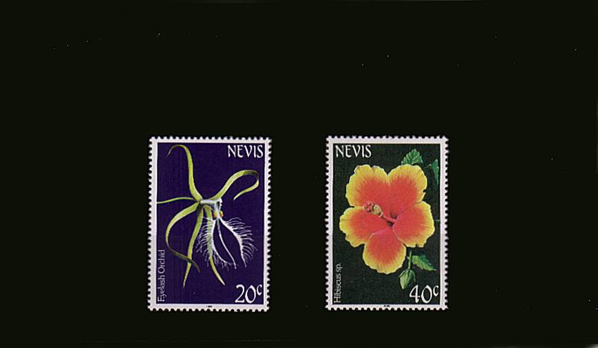 Flowers - Orchids complete set of two with 1986 Imprint date superb unmounted mint.