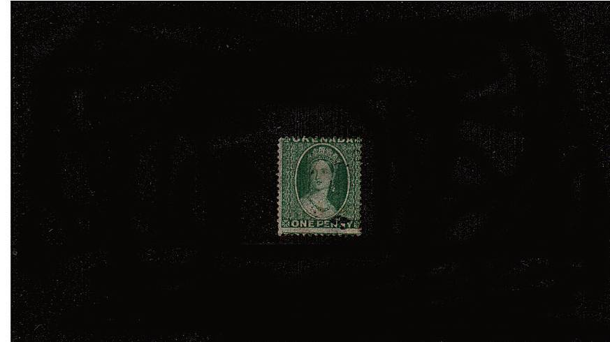 1d Yellowish Green - Perforation 14 - Watermark Small Star<br/>