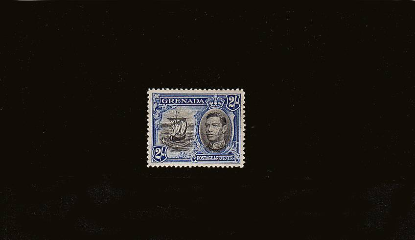 2/- Black and Ultramarine - Perforation 12½<br/>
