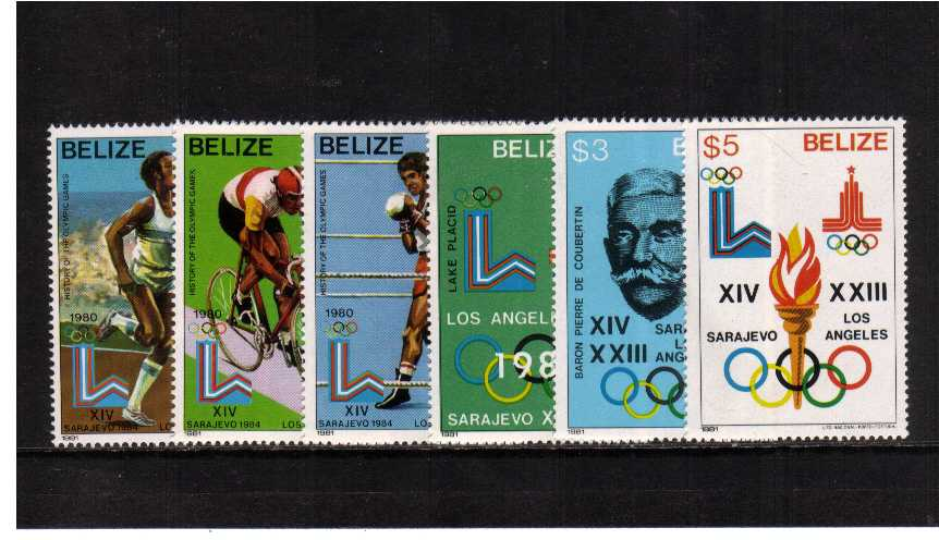 History of the Olympic Games set of eight superb unmounted mint