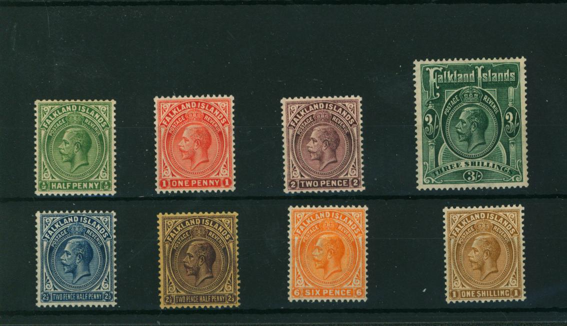 The Multiple Script set of eight superb unmounted mint.<br/> Rare set to find unmounted!