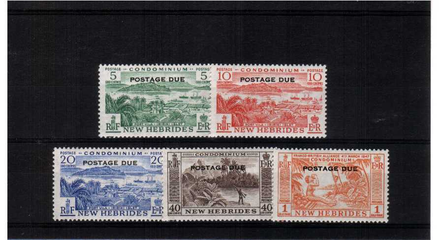 A superb unmounted mint set of five
