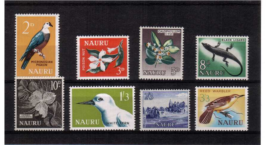 A superb very lightly mounted mint set of eight.