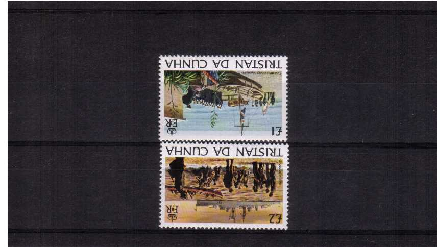 Island History top two values set of two superb unmounted mint with INVERTED WATERMARK.