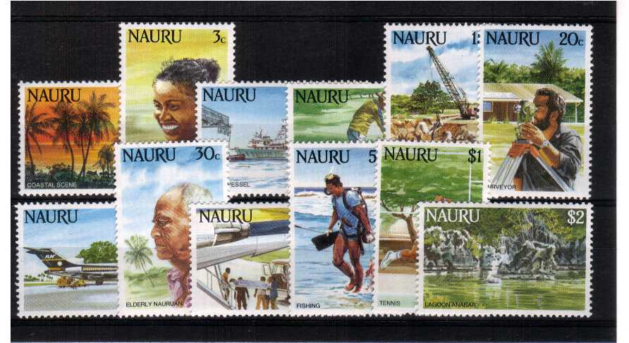 ''Life in Nauru'' superb unmounted mint set of twelve