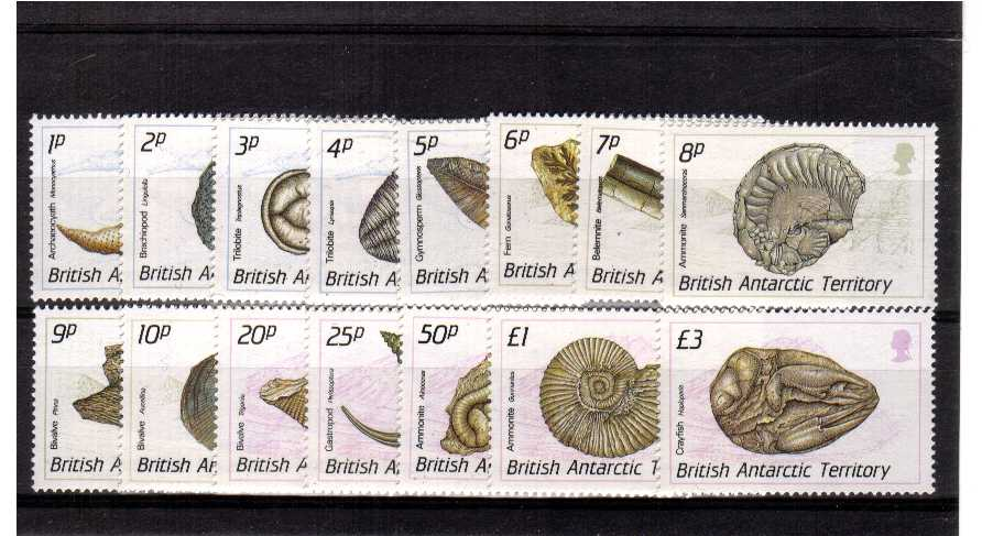 Fossils - A superb very lightly mounted mint set of fifteen.<br/><b>QQIG</b>