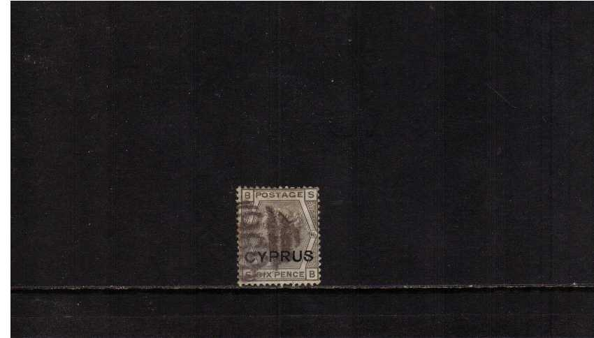 CYPRUS overprint on 6d Grey from Plate 16 lettered
