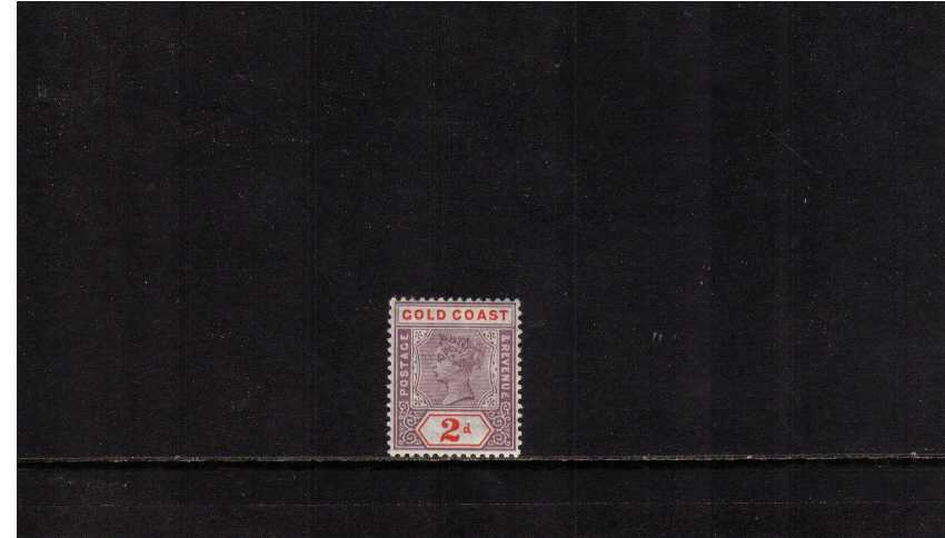 2d Dull Mauve and Orange-Red superb very lightly mounted mint stamp. Very fresh.
