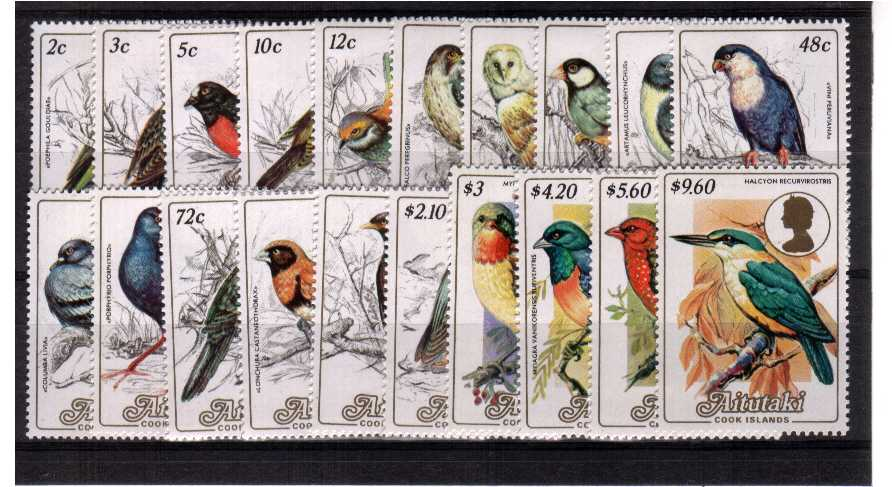 Birds - superb unmounted mint set of twenty