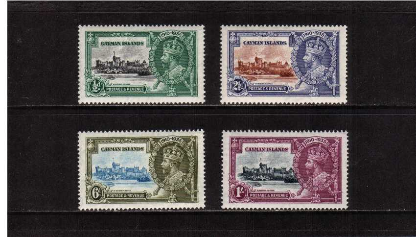 Silver Jubilee set of four superb unmounted mint.<br/><b>SEARCH CODE: 1935JUBILEE</b><br/><b>UAU</b>