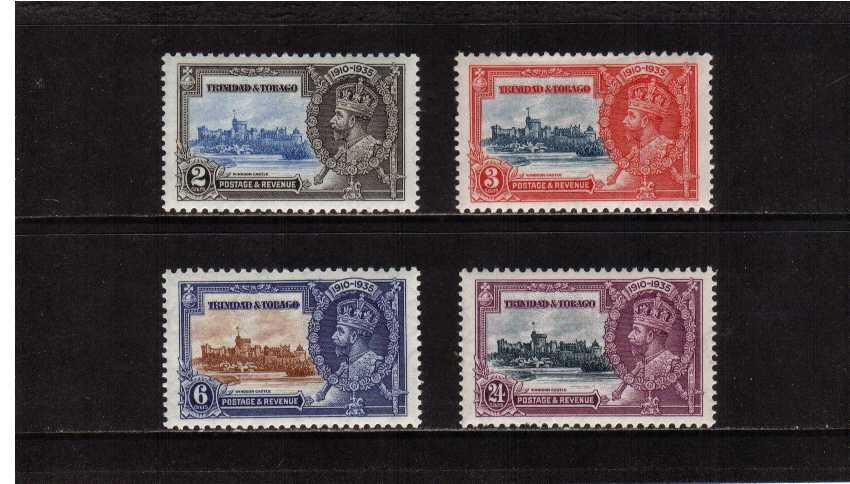 Silver Jubilee set of four superb unmounted mint.<br/><b>SEARCH CODE: 1935JUBILEE</b><br/><b>XZX</b>