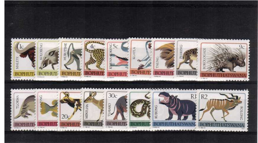 Animals set of seventeen superb unmounted mint.<br/><br/>