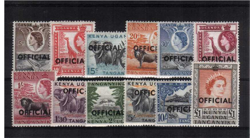 The ''OFFICIALS'' set of twelve lightly mounted mint.<br/><b>XUX</b>