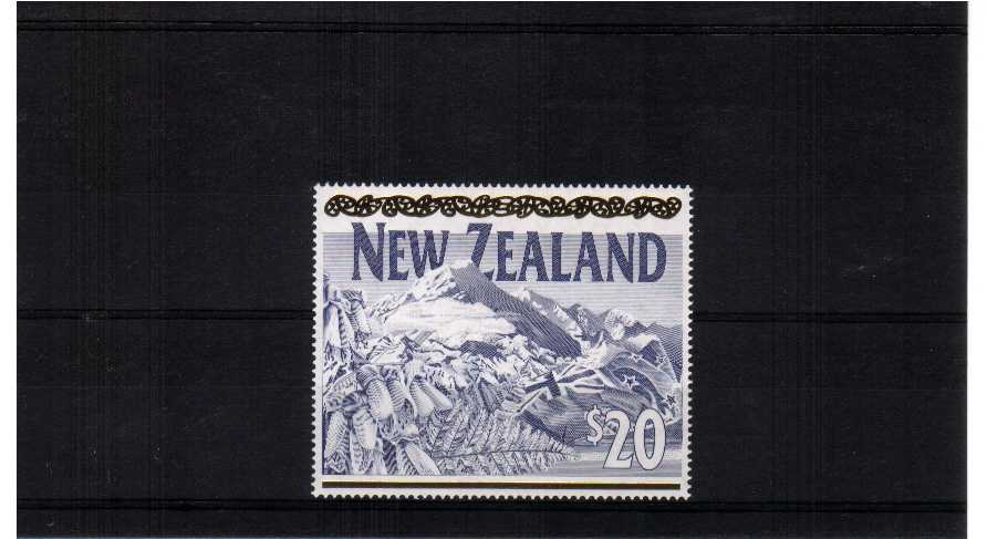 $20 engraved by SLANIA<br/>superb unmounted mint single<br/><b>QSQ</b>