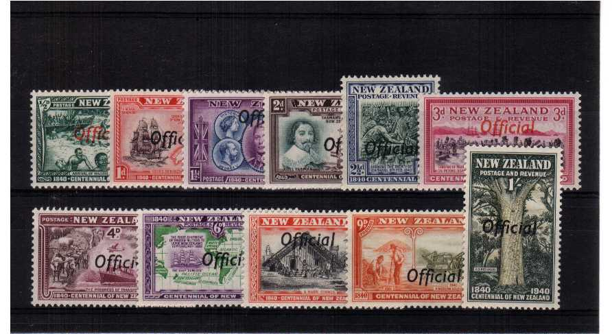The ''OFFICIALS'' set of eleven superb unmounted mint.