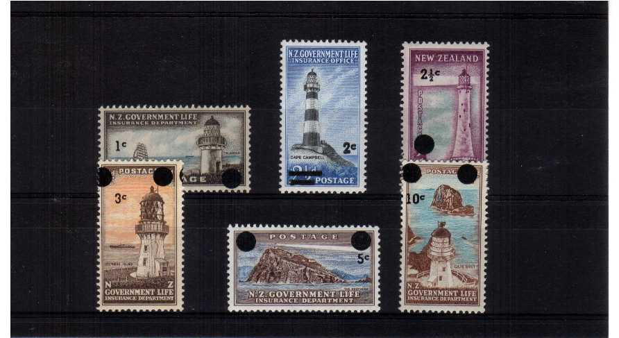 lighthouses - Superb unmounted mint set of six.