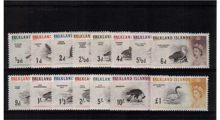 The classic BIRDS set of fifteen superb unmounted mint.<br/><b>QDX</b>