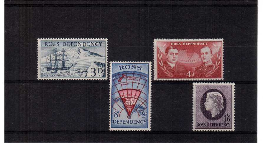 Superb unmounted mint set of four.