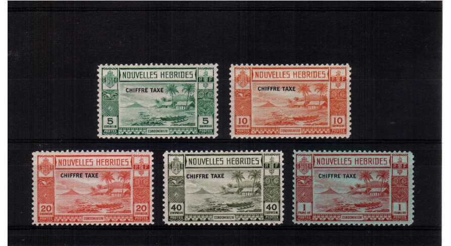 A fine mounted mint set of five.