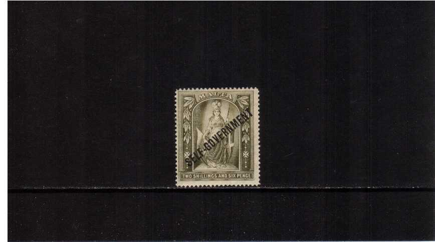 2/6d Olive-Grey overprinted SELF-GOVERNMENT lightly mounted mint.