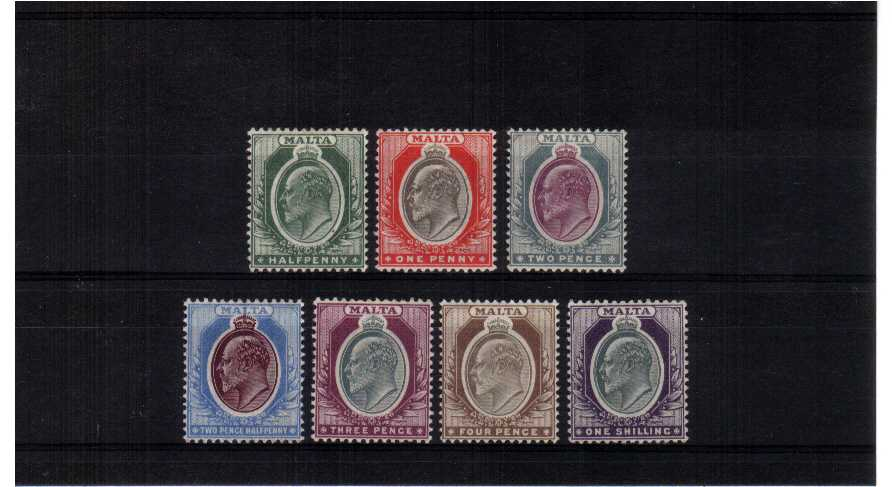 A fine lightly mounted mint set of seven.